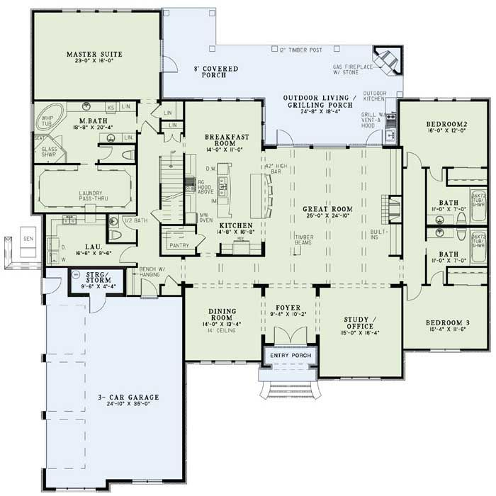 Dining room should be office, office needs to be another bedroom and something done with master bath not being entered through master bed.