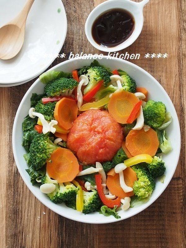 まるごとレタス&トマトの蒸し野菜サラダ by 河埜 玲子   レシピサイト ...