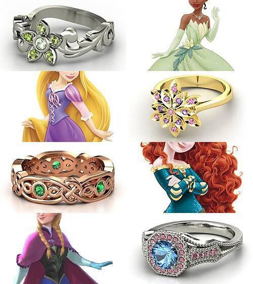 Rings that represent these lovely Disney Princesses :) So cute I want one!