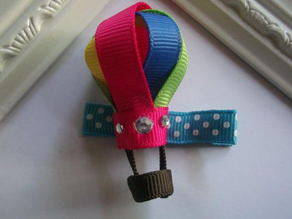 Hot Air Balloon Ribbon Sculpture Hair Clip. Air by creationslove, $3.50