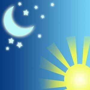 teaching about night and day to preschoolers (Days of Creation: on day one God created the night and day, Genesis 1:3-5)