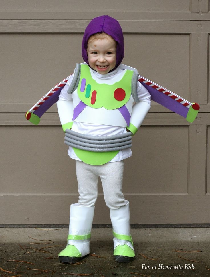 diy kids buzz lightyear no sew halloween costume - Child Halloween Costumes Homemade