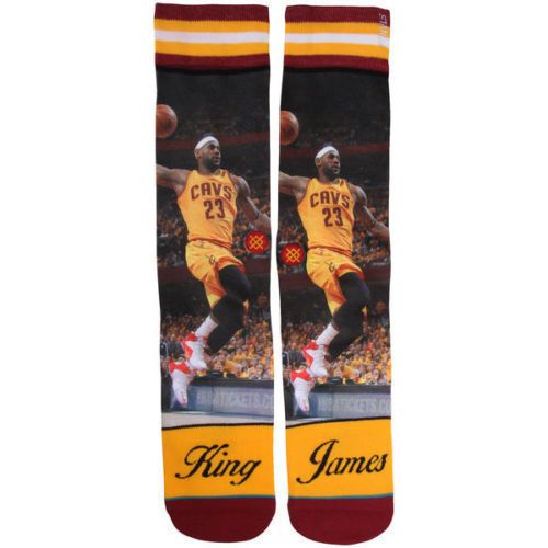 LeBron James Cleveland Cavaliers Stance NBA Socks Large Men's 9-12 King James #Stance #ClevelandCavaliers