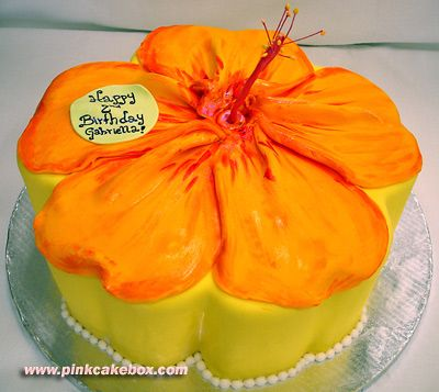 Hibiscus Cake: Flower Cakes, Hawaiian Birthday, Cake Ideas, Hibiscus Flower, Party Ideas, Birthday Cakes, Birthday Party, Birthday Ideas