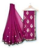 Georgette Designer Saree - Dark Pink | Yepmeworld