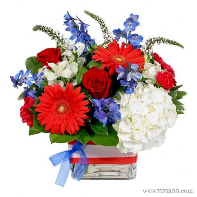 17 best images about red white and blue flowers on pinterest for Red white blue flower arrangements
