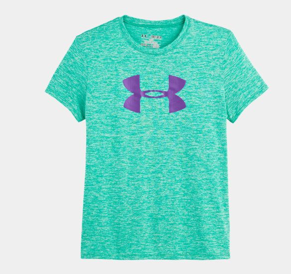Girls' UA Big Logo Twist Tech T-Shirt | 1245337 | Under Armour US