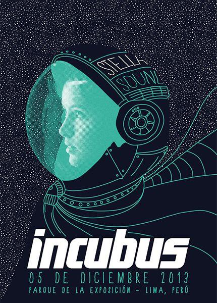 Incubus - gig poster - Piero Bottger