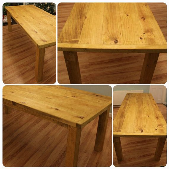 Handmade in Somerset Large Chunky Table in by MarcWoodJoinery