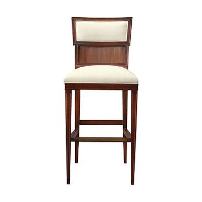 Hickory Chair Alexa Hampton Ilsa Bar Stool (Reeded Panel) Discount Furniture  At Hickory Park Furniture Galleries