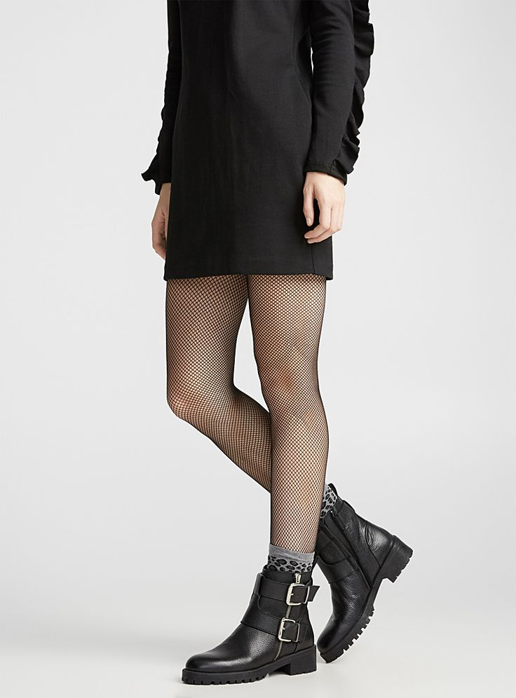 Diamond fishnet pantyhose   Voilà   Shop Women's Patterned Tights Online in Canada   Simons