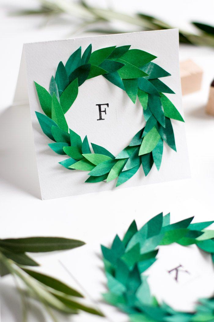Adventskranz Einladungs- und Tischkarten {Create yourself a merry little christmas}