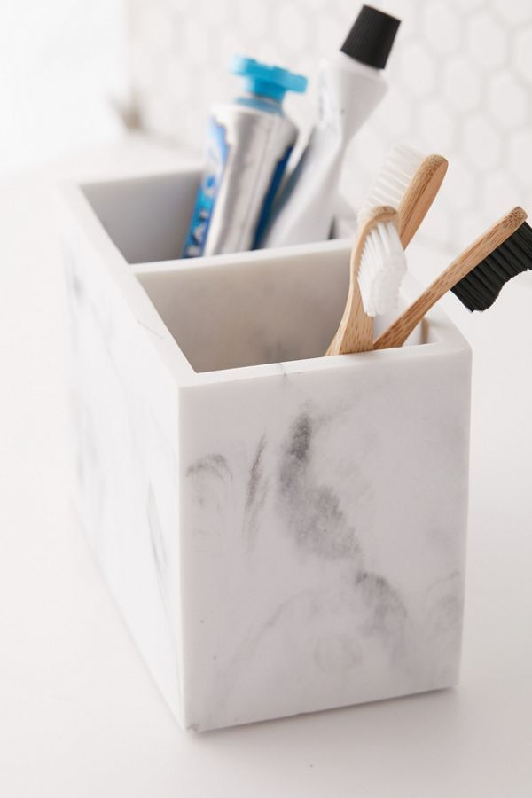 Shop Marble Storage Organizer at Urban Outfitters today. Marble Room Decor, Marble Bedroom, Bathroom Vanity Organization, Storage Organization, Makeup Storage, Cosmetic Storage, Bathroom Cleaning, Home Office Accessories, Room Accessories