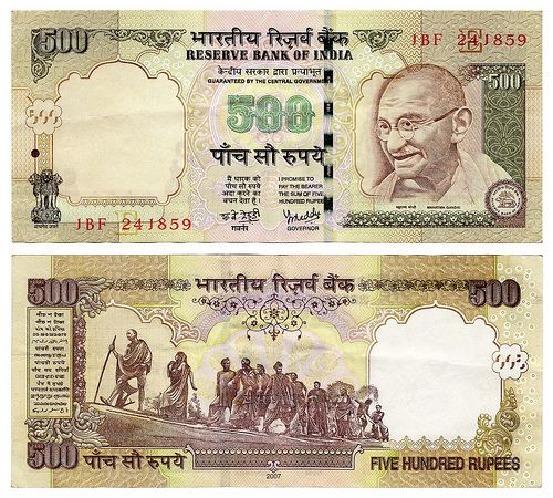 #INDIAN 500rs NOTE SHOWING US ONE OF THE PRIDE INDIAN MOMENT @DANDI MARCH THAT WAS STARTED AGAINST BRITISH FOR THE FREEDOM OF INDIA.