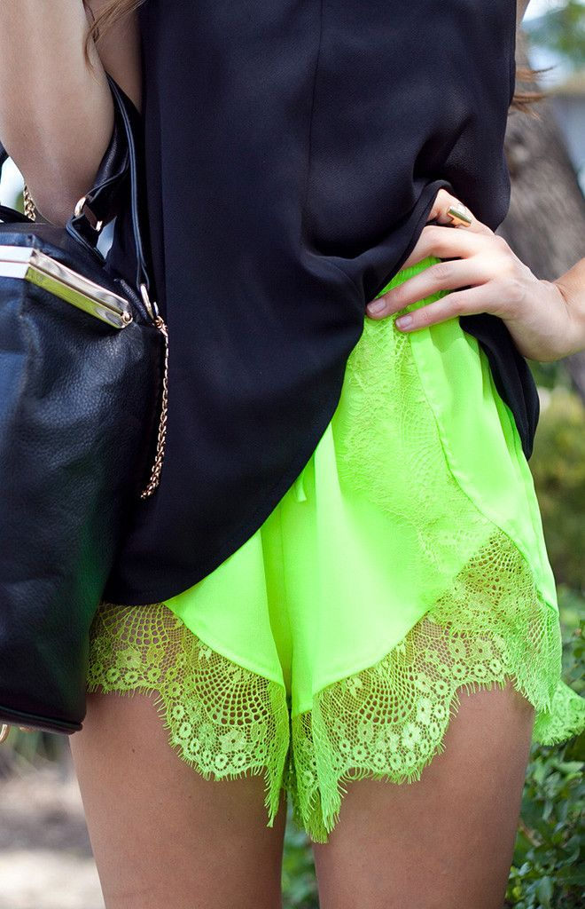 Sparrow Shorts Neon Lime | Shop Shorts | Beginning Boutique