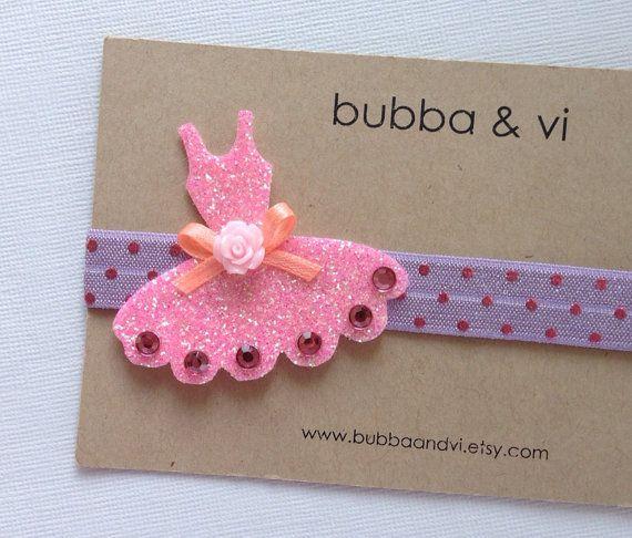 Glitter Hair Clip - Felt Hair Clip - Tutu Hair Clip - Glitter Tutu Hair Clip - Tutu Headband - Ballet Headband, Bubba and Vi on Etsy, $15.57 AUD