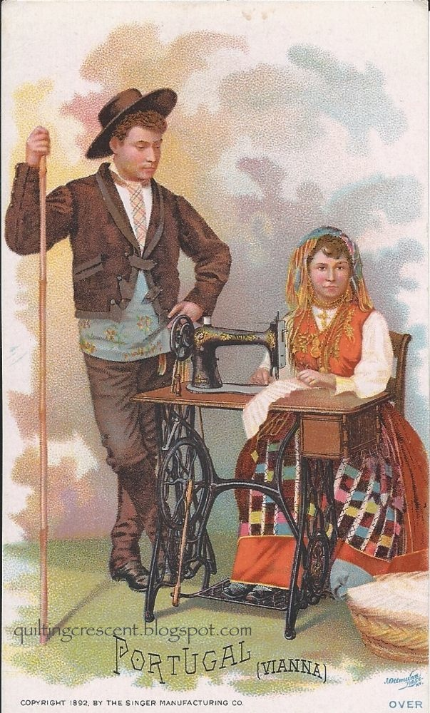 Quilting on the Crescent: Trade Card Tuesday: Singer Costume Cards #1