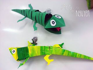 Art with Mrs. Nguyen: Chameleon Paper Sculptures (3rd/4th/5th)