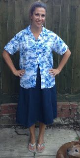The Men's Hawaiian Shirt, before I turned it female... ;) #refashion #sewing