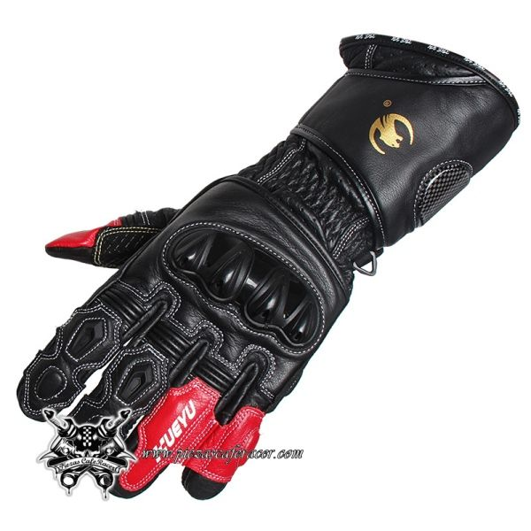 Guantes Completos para Moto con Protecciones Integrales Fibra de Carbono Modelo GP Color Rojo/Negro - 66,16€ - ENVÍO GRATUITO EN TODOS LOS PEDIDOS