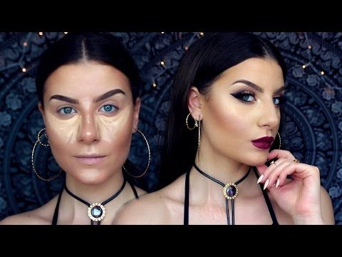 """Makeup Tutorial TRUCCO Ispirato ad INSTAGRAM """"Baddie"""" style + Contouring ft. TIA TAYLOR - YouTube"""