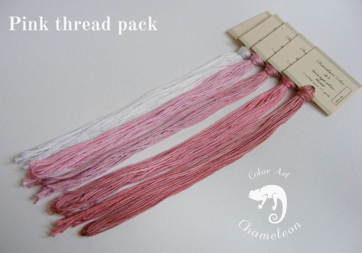5 PCS Pure Cotton THREAD PACK Pink - 6 metres/6.5 yards each by ChameleonColorArt on Etsy