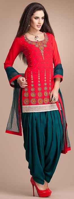 Traditional Patiala Salwar Kameez Fashion. #patialasalwarkameez…