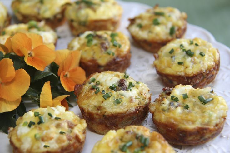 Quiche Bites in Lovely Little Black Dress Attire - dress them up or dress them down.