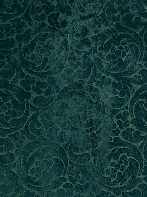 Lush Upholstery Fabric In A Dark Teal Imprinted Velvet This Is Suitable For Light Furniture See More Licati