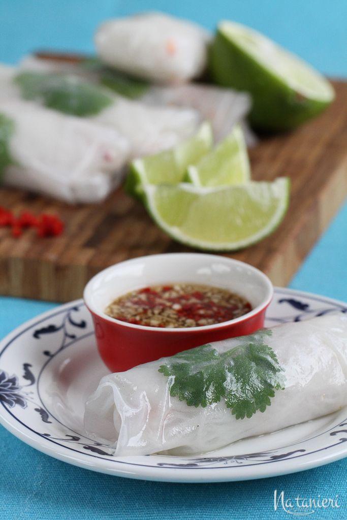 vietnamské závitky s kuracím mäsom