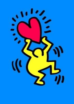 One of my two next tatoos... Untitled, 1987 by Keith Haring... obviously not in those colors... XD