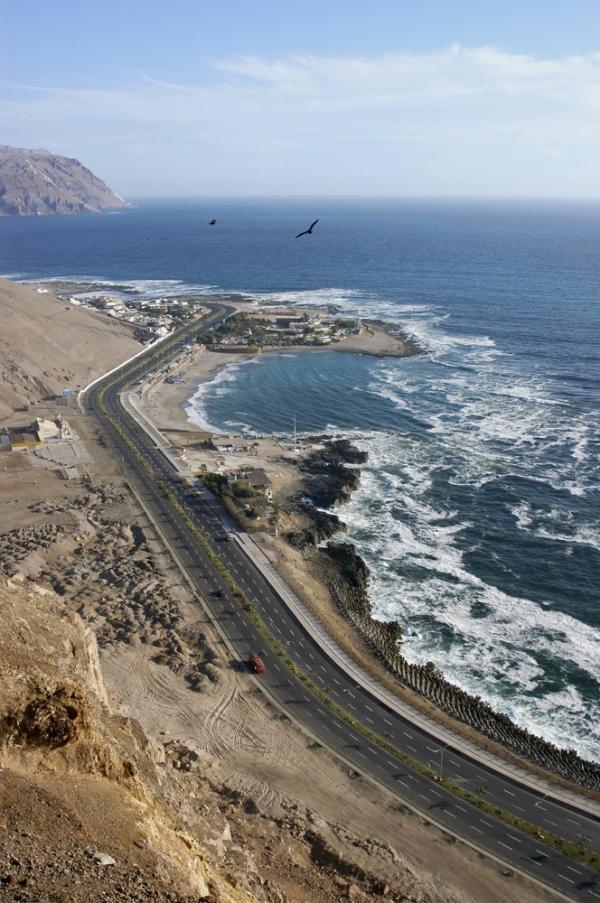 Arica, vista desde el morro hacia playa el laucho