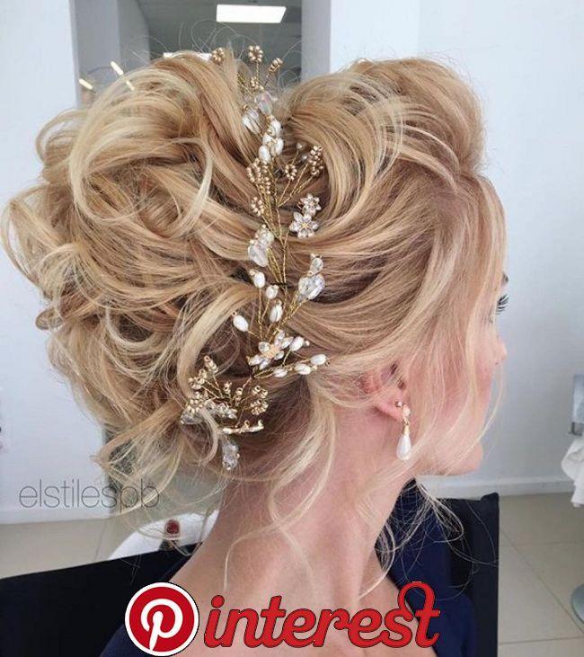 Beautiful Messy Updo Wedding Hairstyles Perfect For Any Wedding Venue Penteado Noiva Solto Penteado Noiva Romantica Penteado Com Tiara