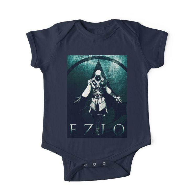 Ezio Auditore II Baby Onesie. #tshirt  #baby #babyonesie #babygifts #babyclothes #style #fashion #babyshower #babygamer #gamerdad #badass #assassinscreedbabytshirt #ezioauditore #tees #shirts#giftideas #eziotshirt #gamingtshirt #gamertshirt #society6 #family #kids #online #shopping #zeldatshirt #gaming #gamer #gifts  #giftsforhim #giftsforher #39 #babytshirt #cool #geekgifts #awesome #tshirtfashion #tshirtdesign #clothing #streetstyle #geektshirt #tee