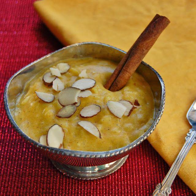 Indian Dessert: Pumpkin Rice Pudding (Pumpkin Kheer)