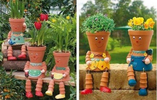 TerraCotta Clay Pot People