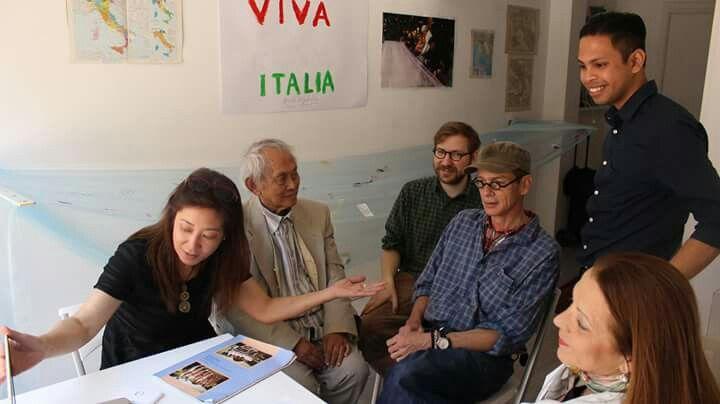 Videoconferenza with Filippine - Josephine Turalba, David Medalla, Adam Nankervis, Rsffaella Losapio - May 2016 at Studio.ra