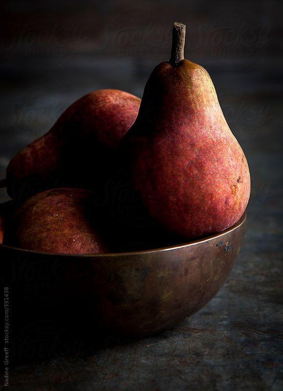 Red Pears by Nadine Greeff   Stocksy United
