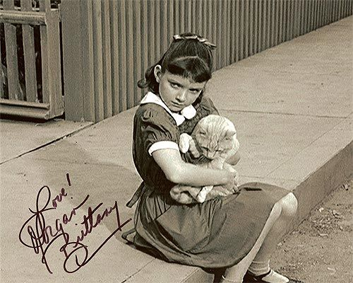 0 young Morgan Brittany (aka susanne cupito) with cat