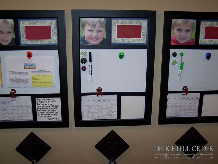 homework boards - probably not yet, but the hooks are good... i need a space with clipboards for homework to be attached to...