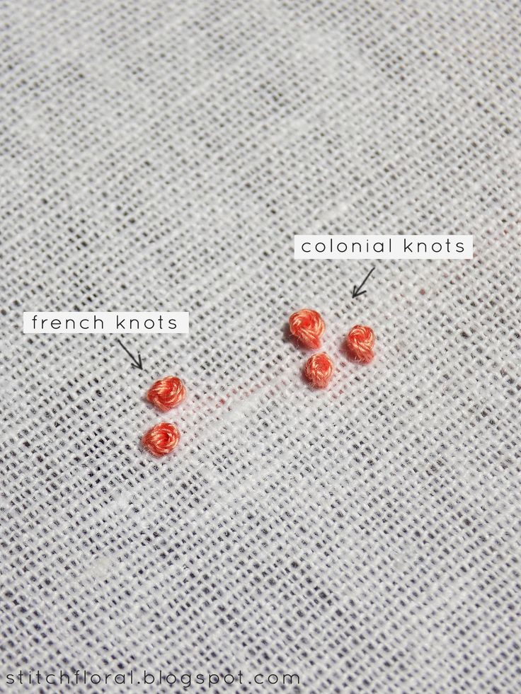 Colonial Knot And Hows It Different From French Knot French