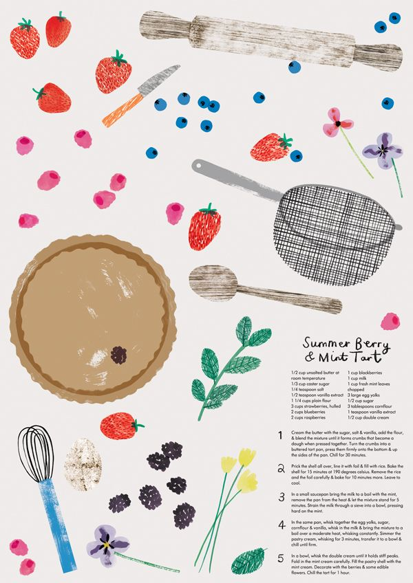 The Garden Centre Group - Charlotte Trounce, cooking, illustration, print, collage, food, recipe, drawing