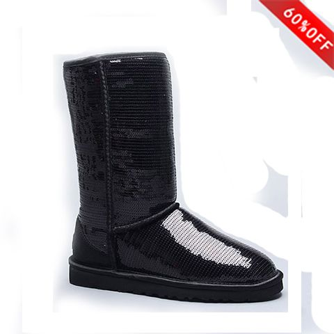 Best Seller* Cheap Genuine Womens UGG Classic Tall 5815 Sparkle Boots Black