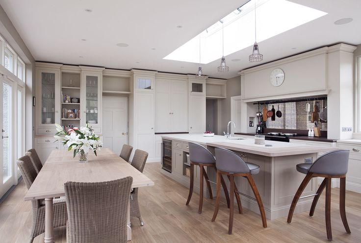 What a room. Floor to ceiling height cabinetry finished with Dekton worktops from Cosentino.