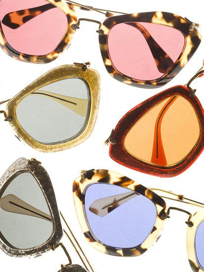 my dream sunglasses. I love the gold pair...or the platinum pair...... or maybe the tortoiseshell with the pink lenses? decisions, decisions.