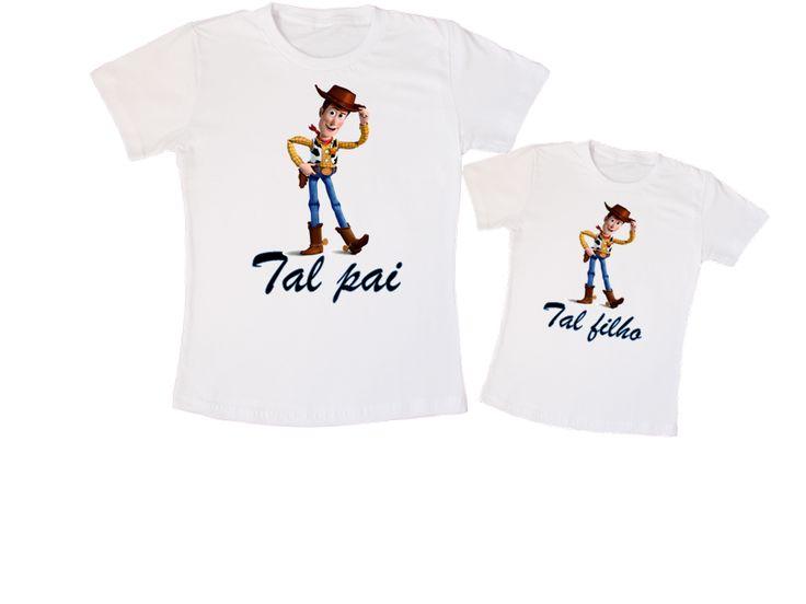 Kit Camiseta Woody Tal pai, tal filho. (01 camiseta adulto, 01 camiseta infantil - R$59,00)