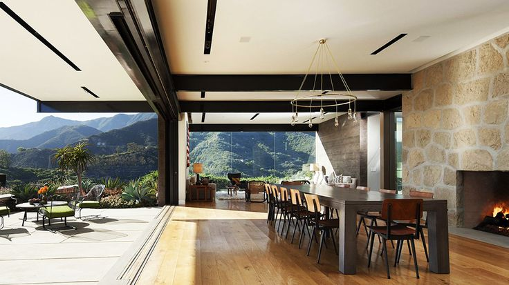 Real Estate Envy: 7 Dreamy Vacation Homes // dining room, Santa Barbara, real estate: Dining Rooms, Toro Canyon, Santa Barbara, Barbara Coastlin, Barbara Bestor, Indoor Outdoor Living, House, Angel Architects, Bestor Architecture