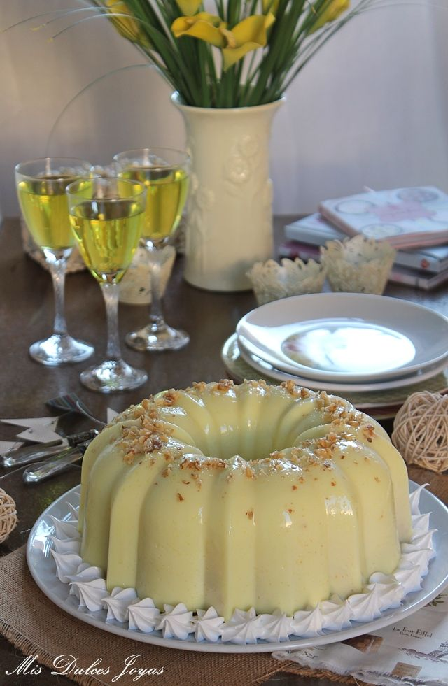 Bizco - flan de limón y vainilla con gelatina flotatina - Mis Dulces Joyas