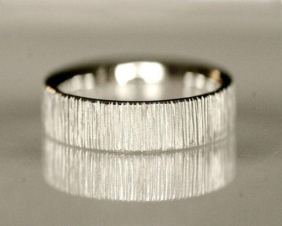 Wedding band men's wedding ring unisex 14k white by TinkenJewelry, $760.00
