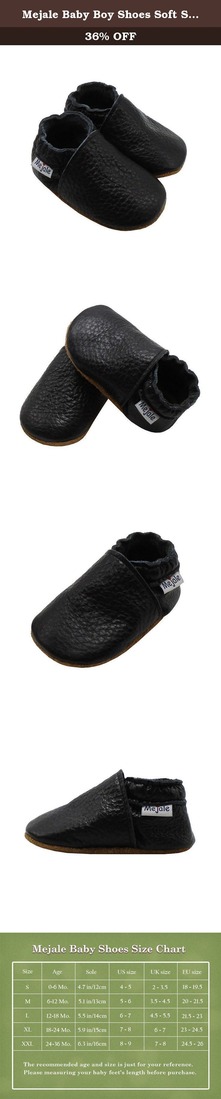 Mejale Baby Boy Shoes Soft Soled Leather Moccasins Anti skid Infant